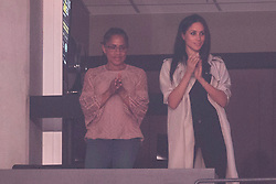 Meghan Markle, right, stands with her mother Doria Radlan during the Invictus Games closing ceremony in Toronto, on Saturday, September 30, 2017. Photo by Chris Young/CP/ABACAPRESS.COM