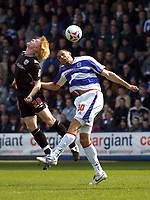 Photo: Olly Greenwood.<br />Queens Park Rangers v West Bromwich Albion. Coca Cola Championship. 31/03/2007. West Brom's Paul McShane and QPR's Marc Nygarard