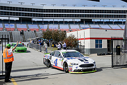 November 2, 2018 - Fort Worth, TX, U.S. - FORT WORTH, TX - NOVEMBER 02: Monster Energy NASCAR Cup Series driver Kevin Harvick (4) drives through the garage area during practice for the AAA Texas 500 on November 02, 2018 at the Texas Motor Speedway in Fort Worth, Texas. (Photo by Matthew Pearce/Icon Sportswire) (Credit Image: © Matthew Pearce/Icon SMI via ZUMA Press)