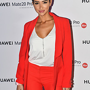 Natasha Grano attend Huawei - VIP celebration at One Marylebone London, UK. 16 October 2018.