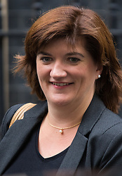 Downing Street, London, September 15th 2015.  Education Secretary Nicky Morgan  leaves 10 Downing Street after attending the weekly cabinet meeting