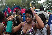September 3, 2012- Brooklyn, New York:  Parade Participants attend the 45th Annual West Indian Day Labor Day Celebration held on September 3, 2012 along Brooklyn's famed Eastern Parkway. It's one of New York City's most popular parades, a cultural festival that celebrates West Indian history, culture, music and food. Attended by as many as two million people. (Terrence Jennings)