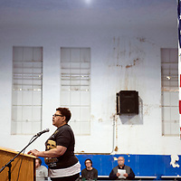 Mona Fraiser, event coordinator for the events on Martin Luther King Jr. Day speaking at the Larry Brian Mitchell Recreation Center, Monday, Jan. 21.
