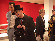 MARK RONSON; BOY GEORGE; NICK RHODES, Prima Donna opening night. Sadler's Wells Theatre, Rosebery Avenue, London EC1, Premiere of Rufus Wainwright's opera. 13 April 2010