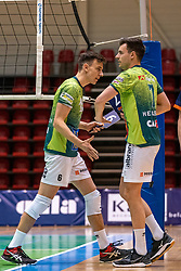 Markus Held of Orion, Stijn Held of Orion in action during the league match between Active Living Orion vs. Amysoft Lycurgus on March 20, 2021 in Doetinchem.