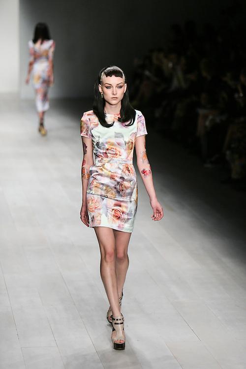 Aminaka Wilmont show during London Fashion Week, Spring/Summer 2013