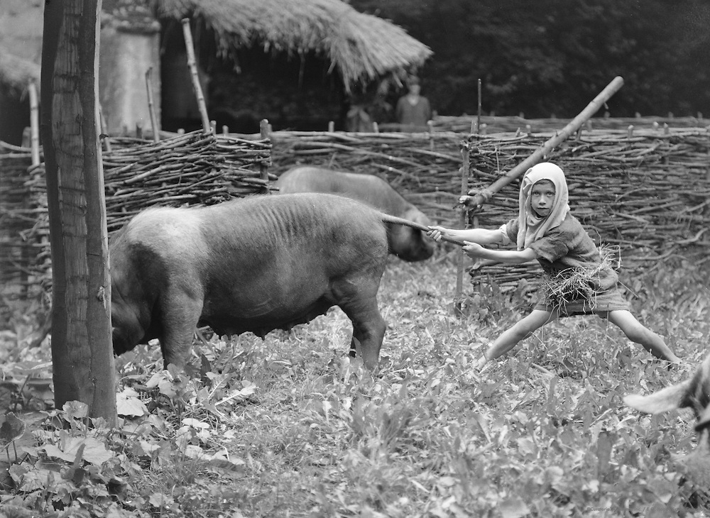 Swineherds, Lacock Abbey Pageant, Wiltshire, England, 1932