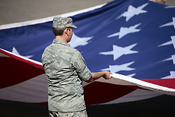 November 12, 2017 - Avondale, Arizona, United States of America - November 12, 2017 - Avondale, Arizona, USA: The US Air Force ROTC hold an American Flag before the National .Anthem at the Can-Am 500(k) at Phoenix Raceway in Avondale, Arizona. (Credit Image: © Walter G Arce Sr Asp Inc/ASP via ZUMA Wire)