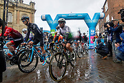 Stage 1 of the 2019 Tour De Yorkshire gets underway centre Mark Cavendish of Dimension Data during the first stage of the Tour de Yorkshire from Doncaster to Selby, Doncaster, United Kingdom on 2 May 2019.