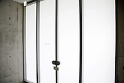 doors to board members room Architecture Tadao Ando Noshima Japan