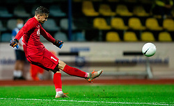 Grega Sorcan of NK Domzale in action during football match between NK Domzale and NK Maribor in 2nd Round of Prva liga Telekom Slovenije 2020/21, on August 30, 2020 in Športni park Domzale, Slovenia. Photo by Vid Ponikvar / Sportida
