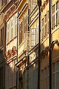 Czeck Republic - Prague, Beauitfully restored and preserved building facades on Mostecká in Malá Strana.  The 'royal way' climbs from the Charles bridge to the Prague castle.