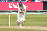 Ned Eckersley batting during the Specsavers County Champ Div 2 match between Durham County Cricket Club and Leicestershire County Cricket Club at the Emirates Durham ICG Ground, Chester-le-Street, United Kingdom on 19 August 2019.