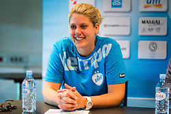 Misa Marincek during press conference of RK Krim Mercator before season 2016/2017, on August 17, 2016 in Ljubljana, Slovenia. Photo by Ziga Zupan / Sportida