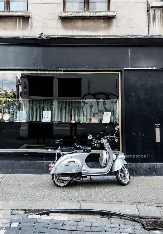 Antwerp, street scene, v intage vespa