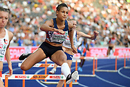 Aurelie Chaboudez competes in women 400m hurdles during the European Championships 2018, at Olympic Stadium in Berlin, Germany, Day 2, on August 8, 2018 - Photo Philippe Millereau / KMSP / ProSportsImages / DPPI
