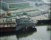 "Ackroyd C04307-2. ""Aerials. April 22, 1977"" ""NW Marine Iron Works"" (Swan Island)"