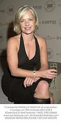TV presenter MARIELLA FROSTRUP at a reception in London on 15th October 2001.OTB 4