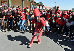 South Africa - Senekal - 16 October 2020. EFF supporters waiting to be addressed by their leader Julius Malema outside Senekal magistrate's court where two accused in the murder of Brendin Horner were appearing.<br /> Picture: Oupa Mokoena/African News Agency (ANA)