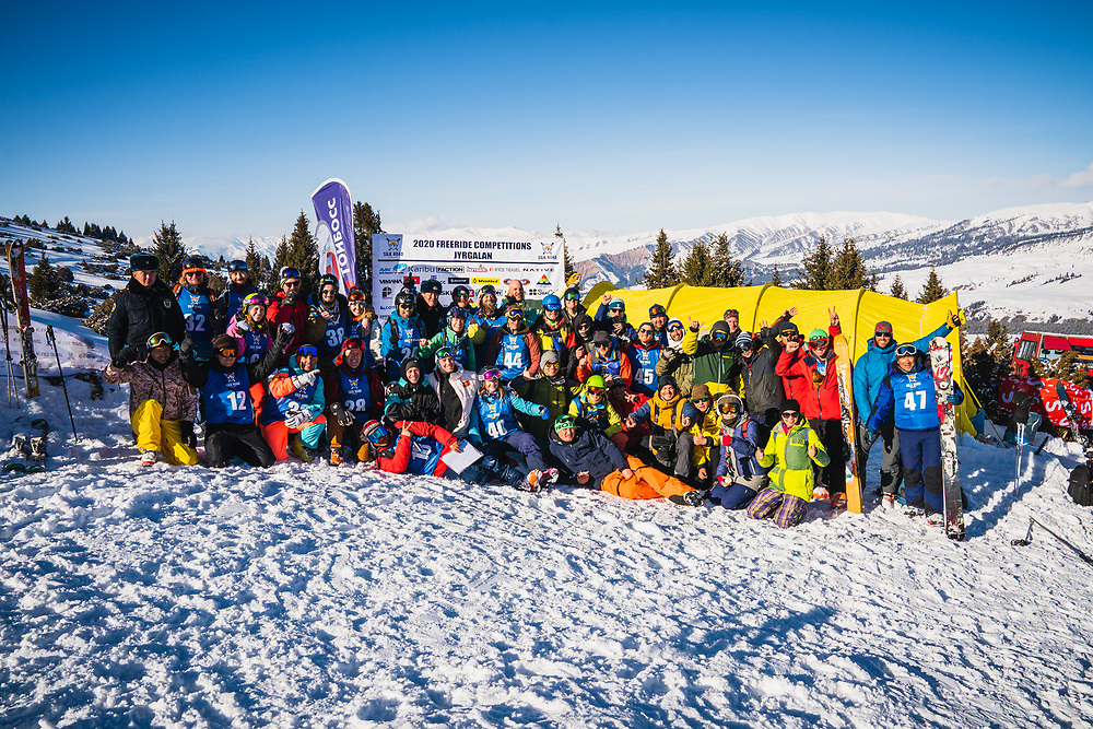 The 2020 family - Day 4 Silk Road Freeride Competition, Jyrgalan, KG.