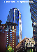Pittsburgh, PA, Grant Street, Old and New, BNY Mellon Center, Historic Omni William Penn Hotel (l), Historic Union Trust Building
