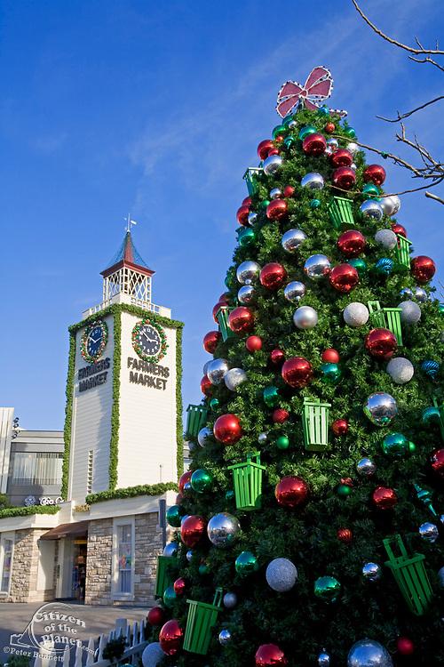 Christmas Tree at the Farmers Market, Los Angeles, California, USA