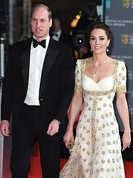 The Duke and Duchess of Cambridge attend the BAFTA Film Awards 2020 at The Royal Albert Hall, London, UK, on the 2nd February 2020. 02 Feb 2020 Pictured: Prince William, Duke of Cambridge, Catherine, Duchess of Cambridge, Kate Middleton. Photo credit: James Whatling / MEGA TheMegaAgency.com +1 888 505 6342