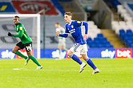Cardiff City's Gavin Whyte (20) in action during the EFL Sky Bet Championship match between Cardiff City and Birmingham City at the Cardiff City Stadium, Cardiff, Wales on 16 December 2020.