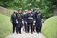 @Licensed to London News Pictures 08 06 2017. Chatham, Medway, Kent. The Royal Prins Maurits of the Netherland is escorted to commemorate the Battle of Medway at Upnor Castle in Kent today. The Battle of Medway took place in 1667 when the Dutch launched a daring assault on the British upon the River Medway at Chatham destroying the whole fleet . Photo credit: Manu Palomeque/LNP