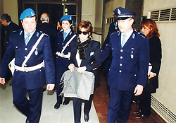 Italy, Milan - May 1994.Patrizia Reggiani arrested..Patrizia Reggiani arranged the murder of her ex-husband Maurizio Gucci in 1995, and she was sentenced to 26 years in prison in 1998. (Credit Image: © Maule/Fotogramma/Ropi/ZUMAPRESS.com)