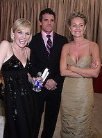 28 April 2006: As The World Turns Michael Park and Maura West  and Sharon Case in the exclusive behind the scenes photos of celebrity television stars in the STAR greenroom at the 33rd Annual Daytime Emmy Awards at the Kodak Theatre at Hollywood and Highland, CA. Contact photographer for usage availability.