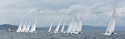 International Dragon Class Scottish Championships 2015.<br /> <br /> Day 1 racing in perfect conditions.<br /> Startline<br /> <br /> <br /> Credit Marc Turner