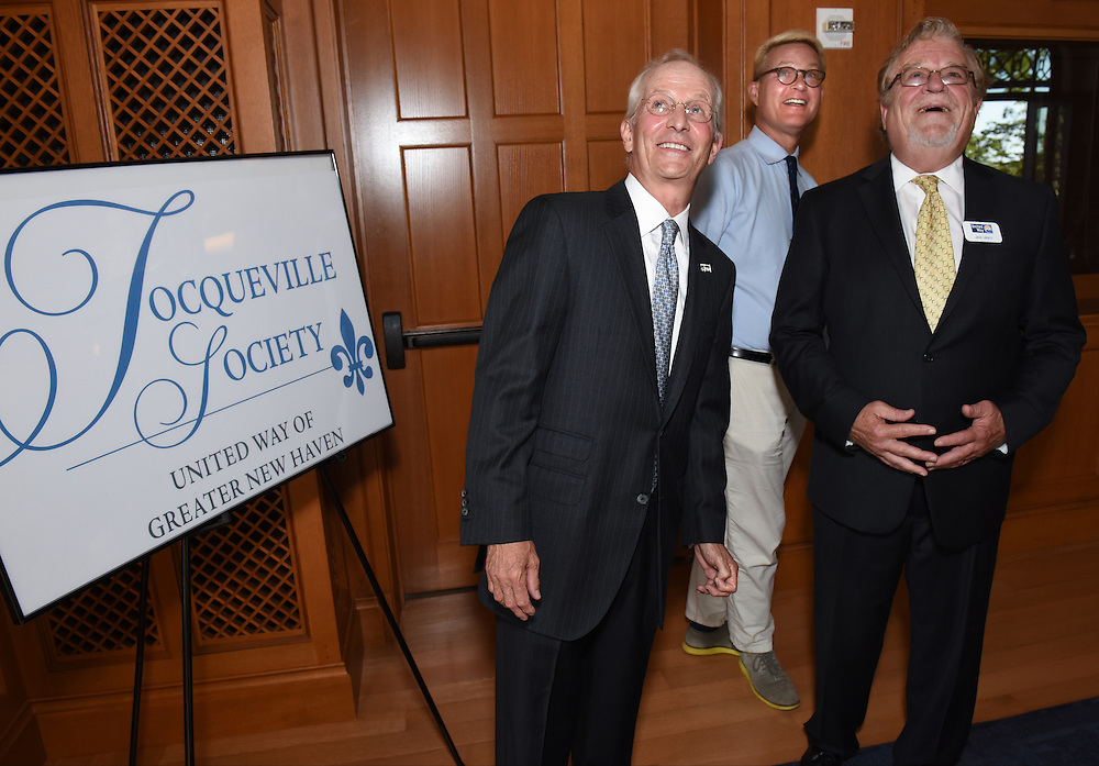 Photo by Mara Lavitt <br /> September 16, 2015 <br /> The United Way of Greater New Haven's Tocqueville Society honored David Newton, with the Herbert H. Pearce Award, at Yale University's Maurice R. Greenberg Conference Center.
