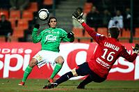 FOOTBALL - FRENCH CHAMPIONSHIP 2009/2010 - L1 - AS SAINT ETIENNE v LILLE OSC - 6/03/2010 - PHOTO ERIC BRETAGNON / DPPI -GOAL EMMANUEL RIVIERE (ASSE)