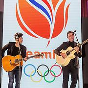 NLD/Scheveningen/20160713 - Perspresentatie sporters voor de Olympische Spelen 2016 in Rio de Janeiro, optreden Nielson