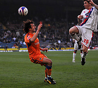 Photo: Tony Oudot/Richard Lane Photography. Crystal Palace v Reading. Coca-Cola Football League Championship. 21/03/2009. <br /> John Oster of Palace heads the ball over Stephen Hunt of Reading