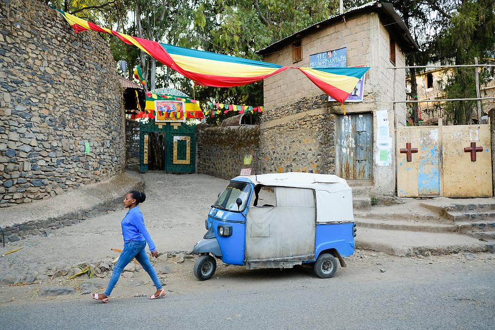 Street scene in Gondar, Ethiopia