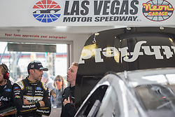 March 1, 2019 - Las Vegas, NV, U.S. - LAS VEGAS, NV - MARCH 01: Aric Almirola (10) Stewart Haas Racing Ford Mustang GT during practice for the Pennzoil 400 Monster Energy NASCAR Cup Series race on March 01, 2019, at the Las Vegas Motor Speedway in Las Vegas, Nevada (Photo by Matthew Bolt/Icon Sportswire) (Credit Image: © Matthew Bolt/Icon SMI via ZUMA Press)