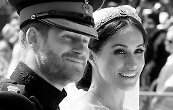 May 19, 2018 - Windsor, Windsor, United Kingdom - Royal wedding. ..Prince Harry and Meghan Markle.The wedding of Prince Harry and Meghan Markle, Carriage Procession, Windsor, Berkshire, UK - 19 May 2018. (Credit Image: © i-Images via ZUMA Press)