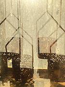 Lockdown Day 4<br />Evening sunlight through a rusted garden lantern. Love the warm evening light here.