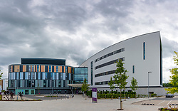 Exterior of new Royal Hospital for Children and Young People in Edinburgh, UK