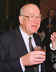 MR LEOPOLD DE ROTHSCHILD at a reception in London on 20th April 1999.MRF 27