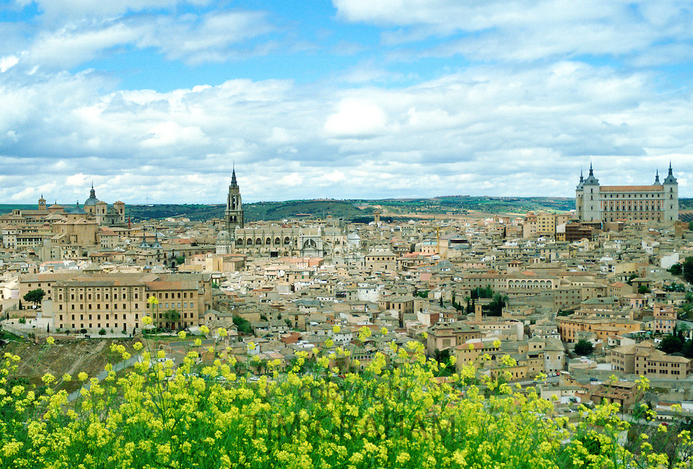Panoramic view of the city of Toledo, the former capital of Spain