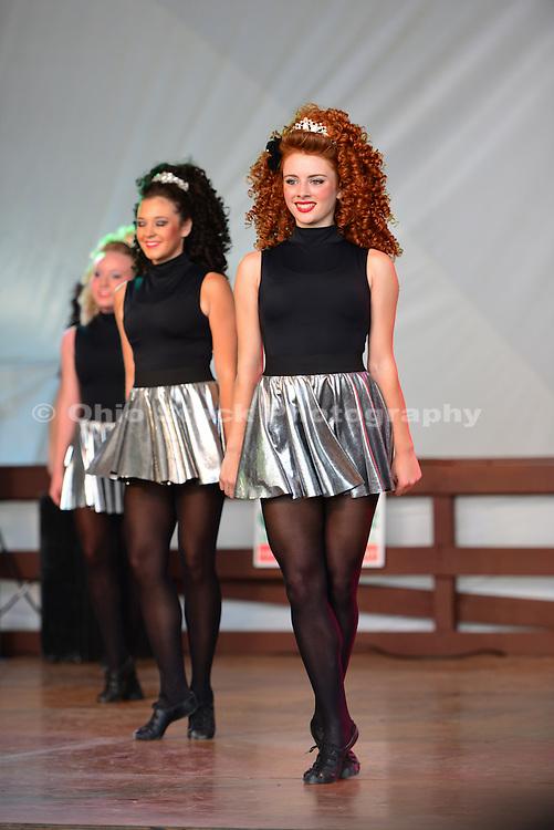 Photo showing Step Dancing at the Dublin Irish Festival in Dublin, Ohio.
