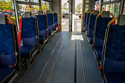 Adjustments have had to be made to community buses to enable social distancing to be observed with seats removed temporarily.