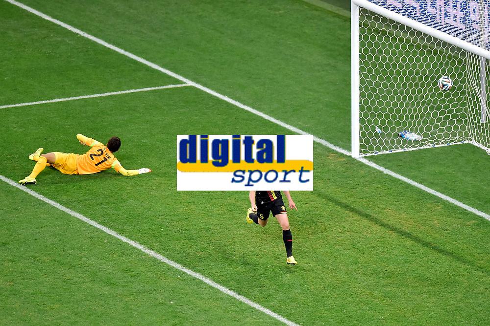 Jan Vertonghen of Belgium scores 0-1 - But