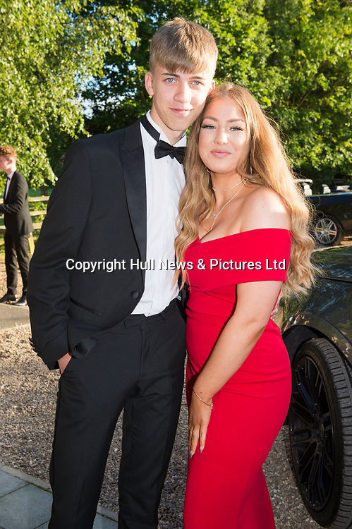 27 June 2019: Somercotes Academy Year 11 prom at the Brackenborough Hotel near Louth.<br /> Poppy Persaud and Lewis Porter.<br /> Picture: Sean Spencer/Hull News & Pictures Ltd<br /> 01482 210267/07976 433960<br /> www.hullnews.co.uk         sean@hullnews.co.uk