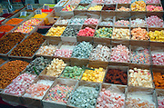 Turkish delight sweets on market stall, Fethiye, Turkey