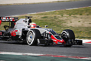 Barcelona, Spain - <br /> <br /> Esteban Gutierrez and Haas during the test in the Barcelona-Catalunya Circuit, on february 23, 2016.<br /> ©Exclusivepix Media