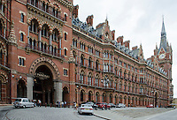 St Pancras Renaissance Hotel, St Pancras, London, UK. At the same location is St Pancras Railway Station from where the Eurostar high speed trains operate to Continental Europe via the Channel Tunnel. The St Pancras Complex also incorporates many big name stores and restaurants. 201609044268<br /> <br /> Copyright Image from Victor Patterson, 54 Dorchester Park, Belfast, UK, BT9 6RJ<br /> <br /> t1: +44 28 9066 1296 (from Rep of Ireland 048 9066 1296)<br /> t2: +44 28 9002 2446 (from Rep of Ireland 048 9002 2446)<br /> m: +44 7802 353836<br /> <br /> e1: victorpatterson@me.com<br /> e2: victorpatterson@gmail.com<br /> <br /> The use of my copyright images is subject to my Terms & Conditions.<br /> <br /> It is IMPORTANT that you familiarise yourself with them. They are available on my website at www.victorpatterson.com.<br /> <br /> None of my copyright images may be used on a website unless they are visibly watermarked, i.e. © Victor Patterson within the body of the visible image. Metadata denoting my copyright must NOT be deleted. Maximum online size is 300 kbs. Web use is extra at currently recommended NUJ rates.